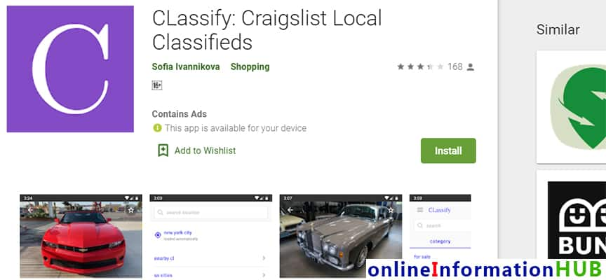 CLassify-Craigslist-Local-Classifieds- Best Rated Craigslist Apps for Android and iOS