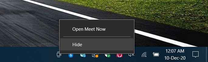 How to Disable Meet Now Icon From Taskbar in Windows 10